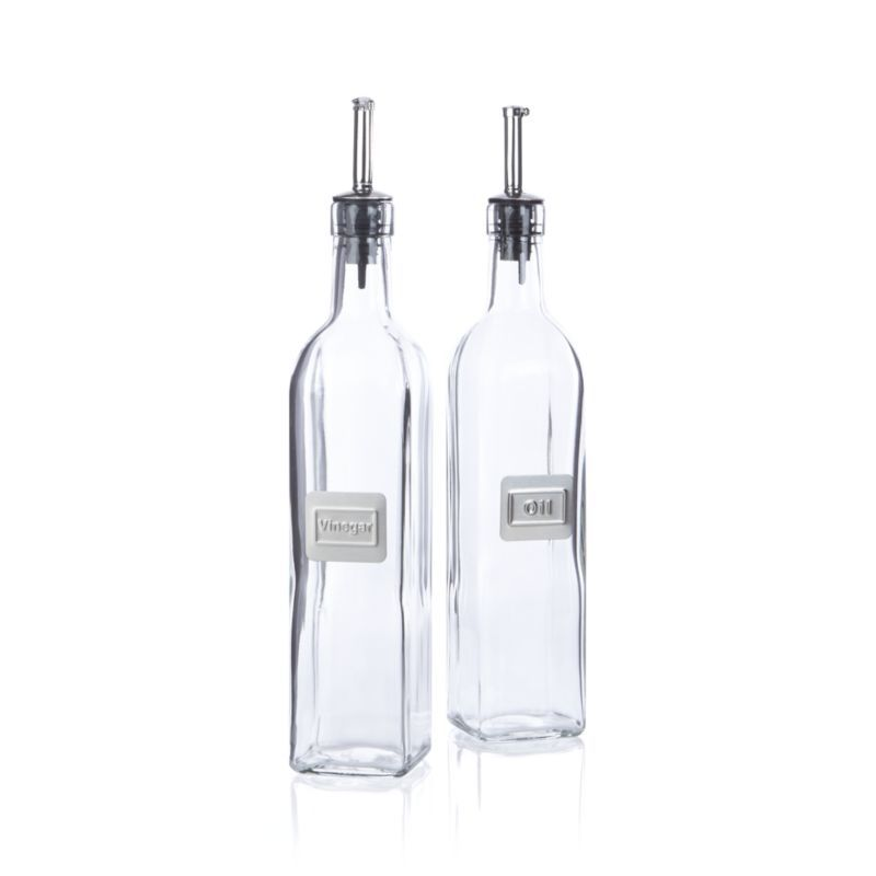 oil and vinegar bottle set reviews crate and barrel in 2020 bottle crate barrel plastic on kitchen organization oil and vinegar id=41247