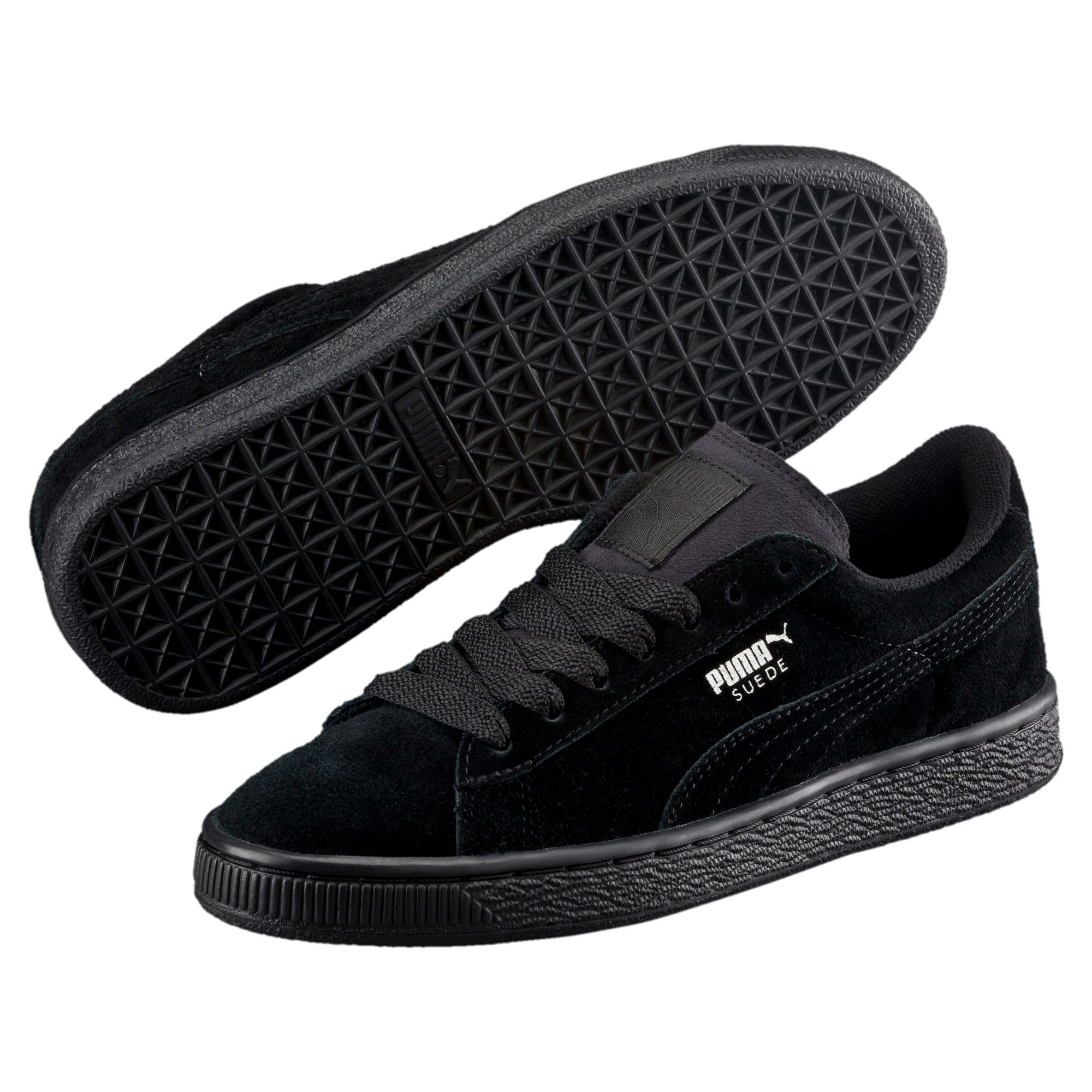 PUMA Kid's Suede Trainers in Black/Silver size 11.5