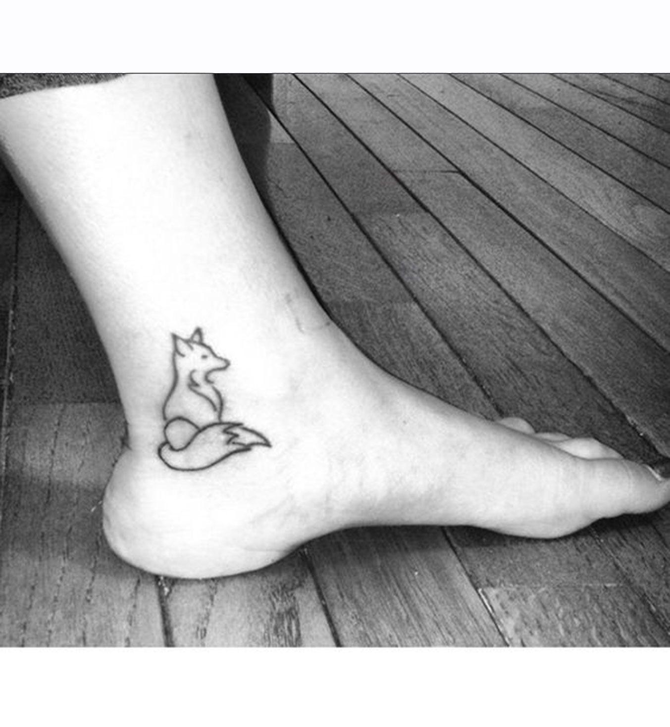 Tatouage Cheville Renard Tatoo Renard Pinterest Tattoos Fox