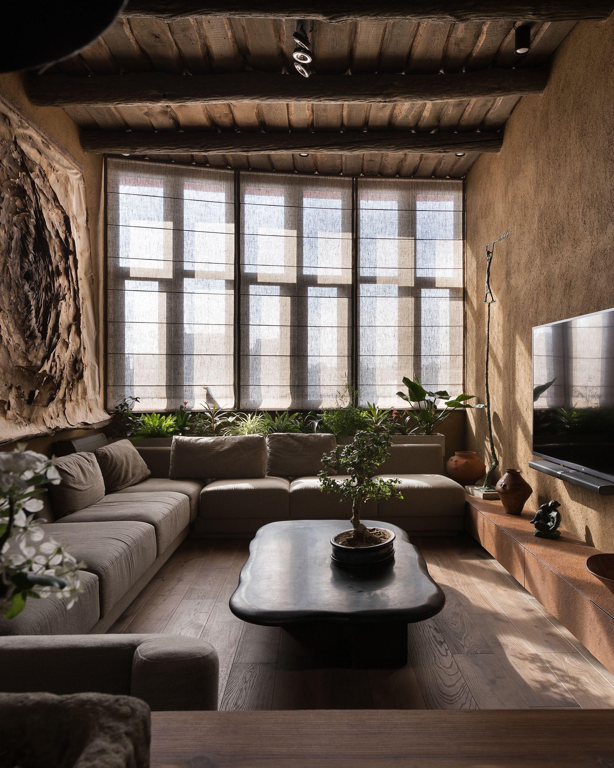 Zen Apartment Design Wabi Sabi Apartment Rustic Bedroom Design Apartment Design Zen decor living room