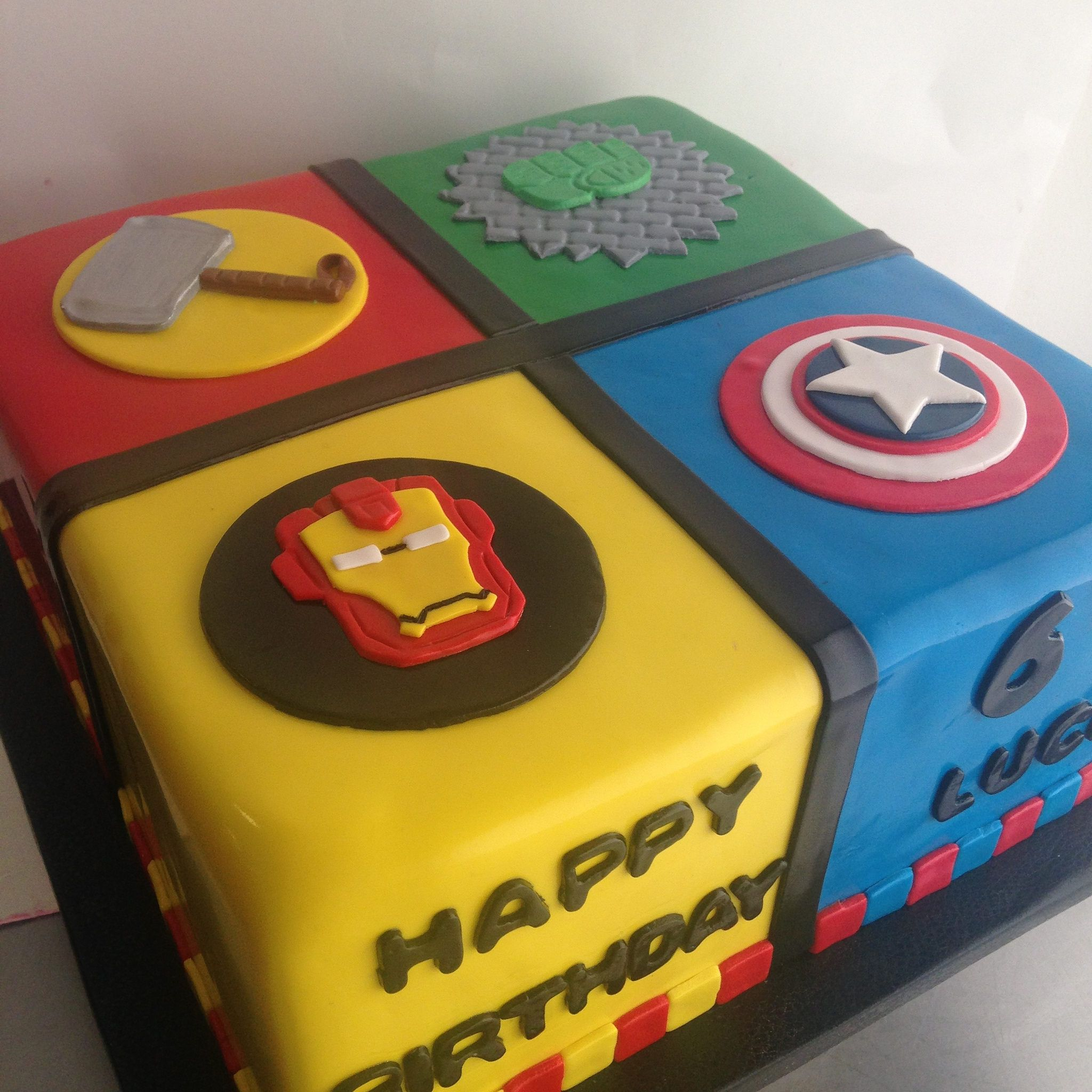 Marvel Avengers 1 2 Sheet 4th Birthday Cake With Images