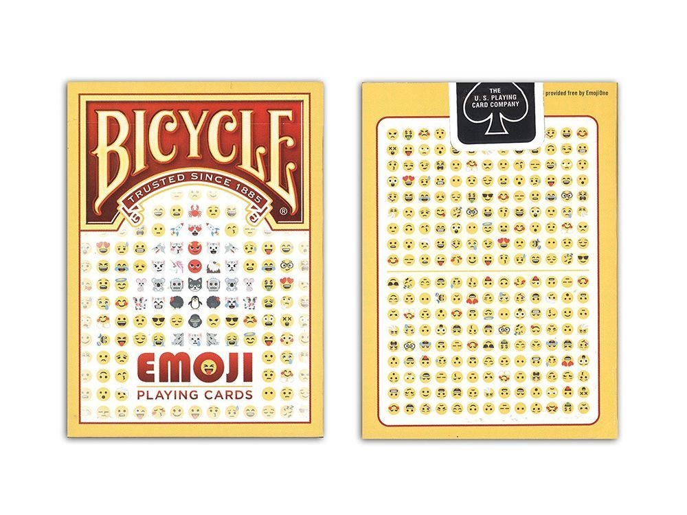 NEW SEALED Emoticon Emoji Images Illustrated Playing Cards Regular Version