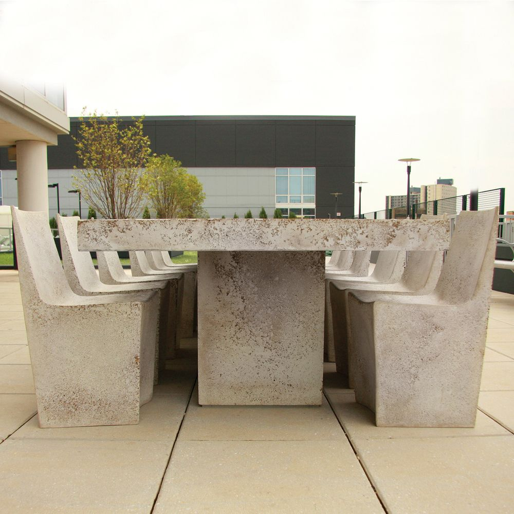 LIGHTWEIGHT CONCRETE SLAB TABLE, KARA MANN, LIGHTWEIGHT CONCRETE FURNITURE