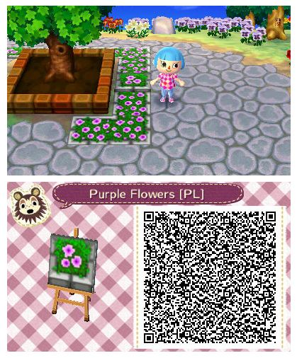 Purple Flower Planter By Quirkberry Animal Crossing New Leaf