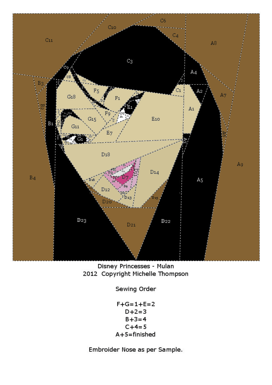 Disney Princess Quilt - Mulan pattern | quilts | Pinterest | Malen ...