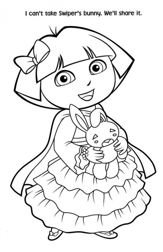 Free Printable Dora Christmas Coloring Pages Picture 54 550x849 Picture Halloween Coloring Pages Halloween Coloring Pages Printable Coloring Pages