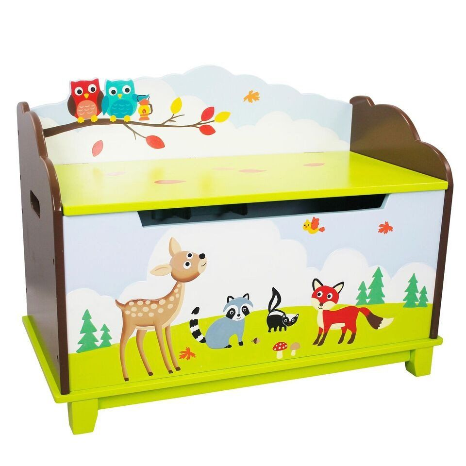 Kids Bedroom Furniture Kids Wooden Toys Online: Fantasy Fields- Enchanted Woodland Toy Chest