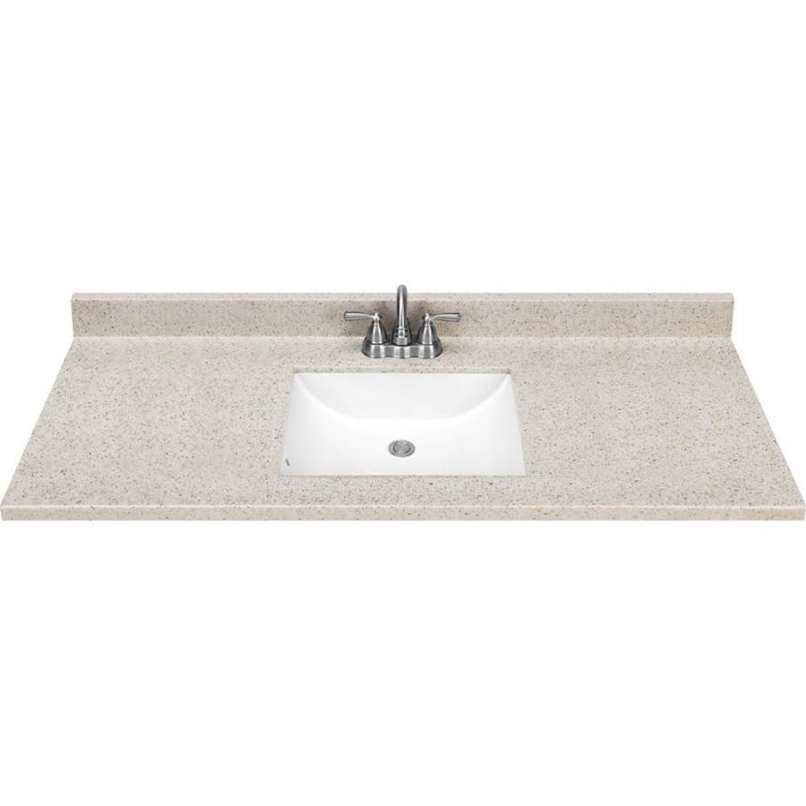 Dune Solid Surface Integral Bathroom Vanity Top (Common: 49-in X 22-