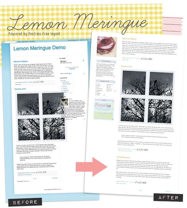 Free Blogger Template Lemon Meringue