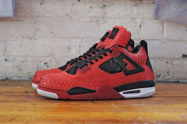 Custom Jordans, Custom Sneakers, Jordan 4, Air Jordan Retro, Air Jordans,  Python, Nba, Adidas