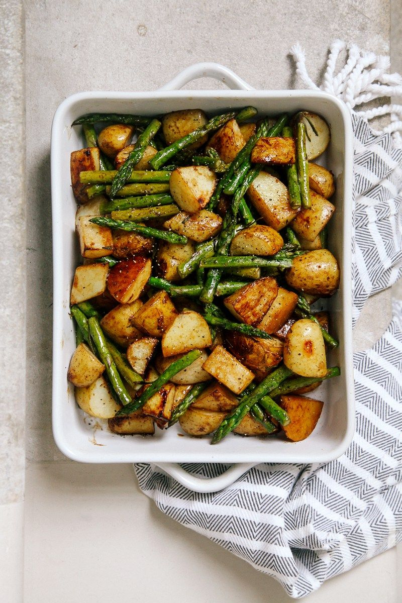 Photo of Balsamic Roasted New Potatoes with Asparagus
