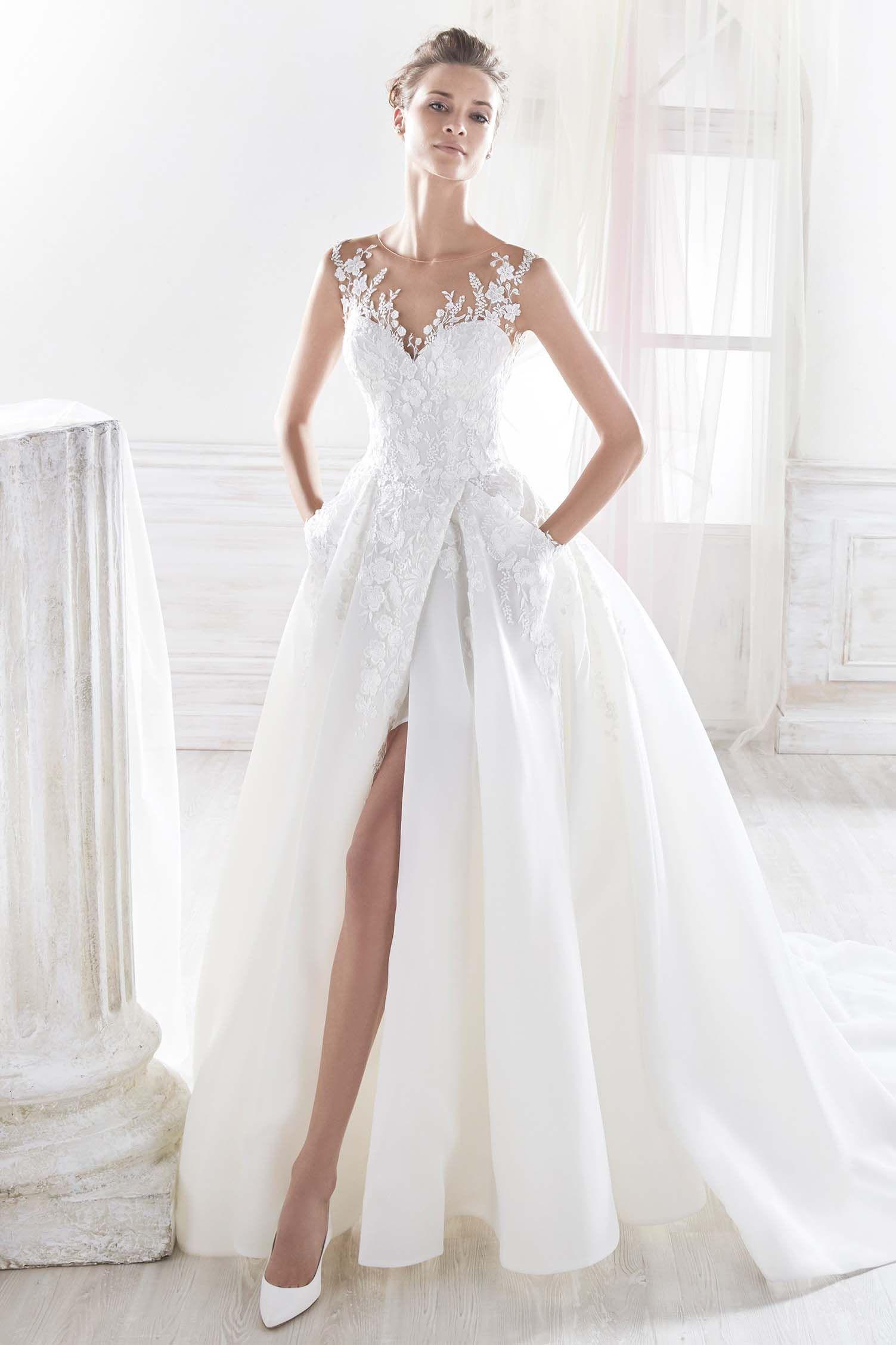 9b7588c0136 Robes de mariée sur Nicole (NIAB18045)