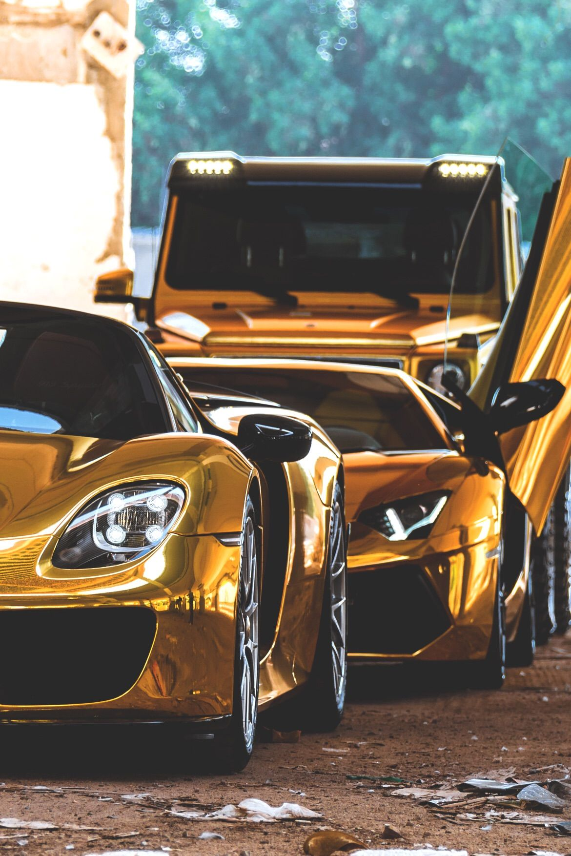 Gold Cool Cars : Triple, Cars,, Super