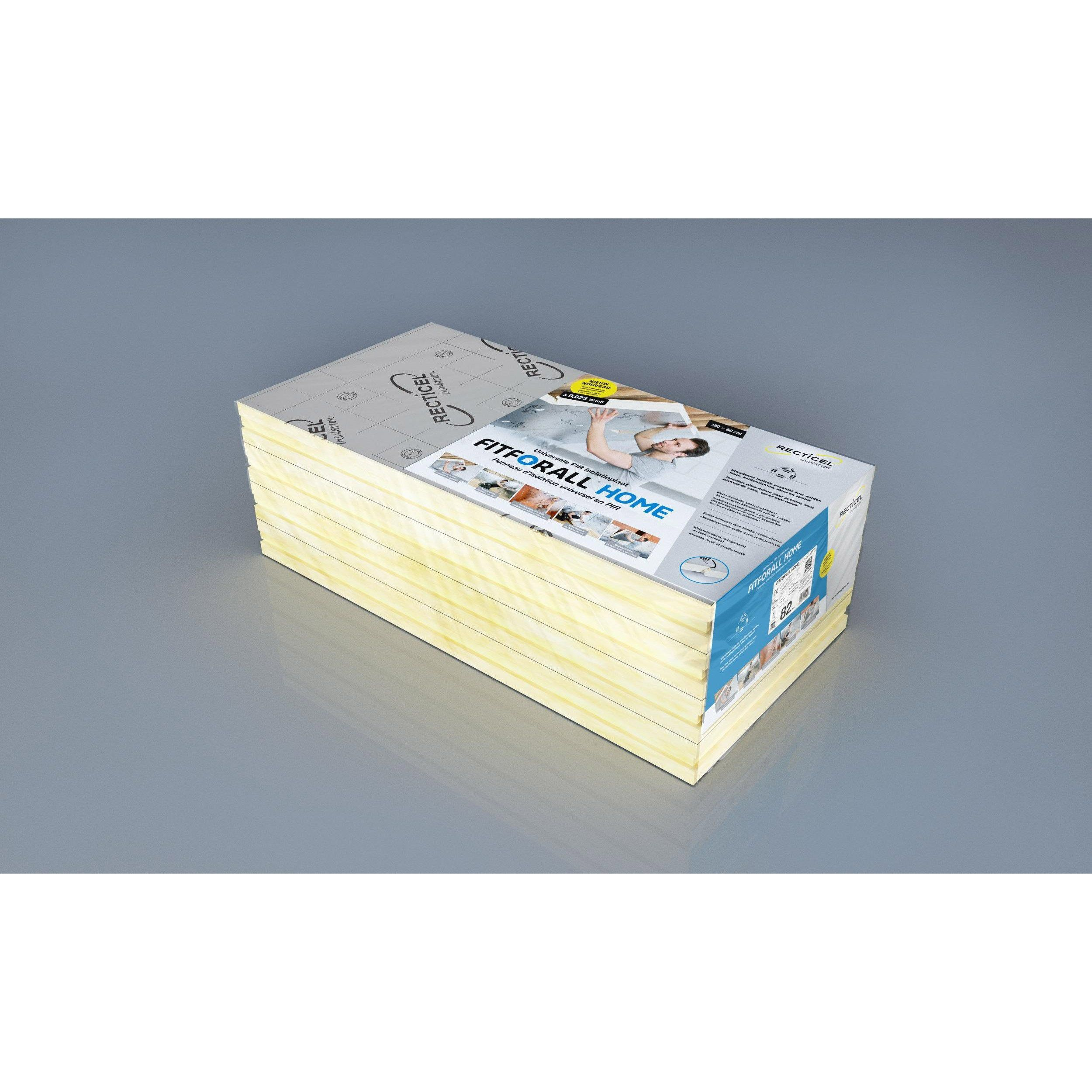 4 Panneaux Pour Isolation Polyurethane Papier Kraft L 0 6xl 1 2xep