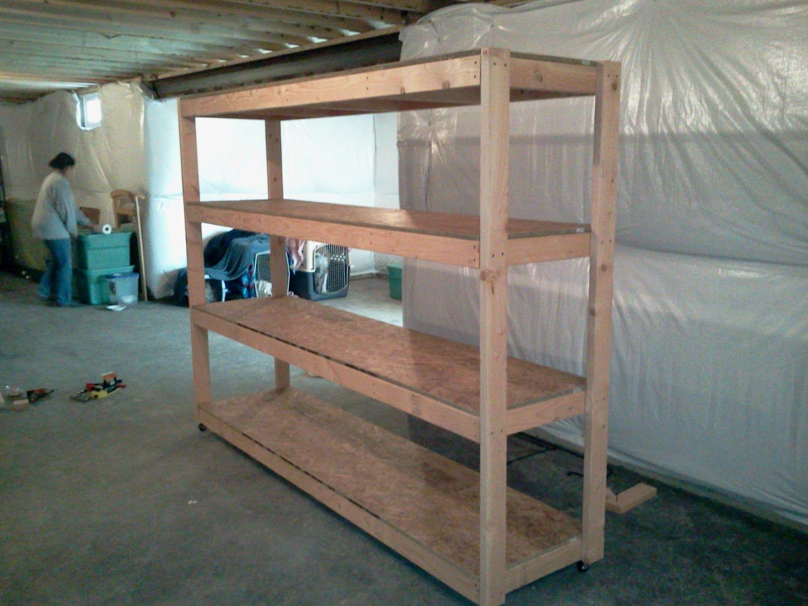 First Project Basement Shelf completed Shelves, Pallet