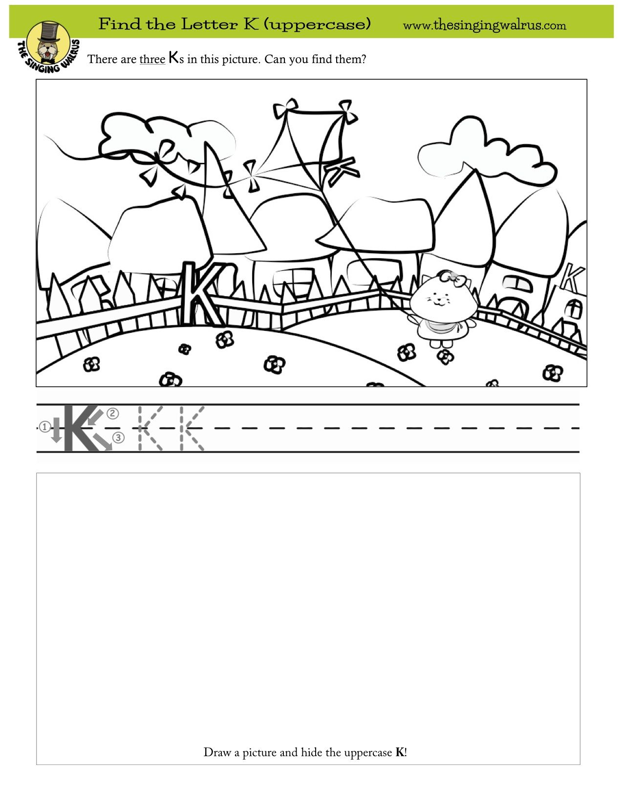 Find The Three Hidden Letter K S More Free Printables And Fun Educational Videos Songs By The