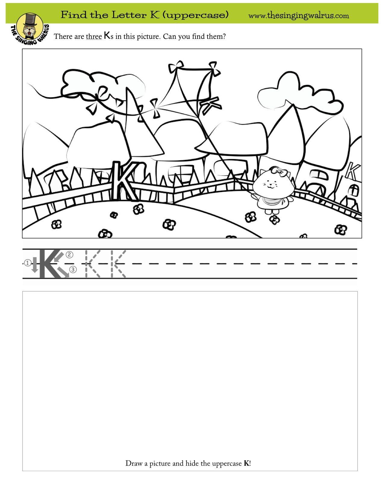 Worksheets Worksheet On Letter Land Song find the three hidden letter ks more free printables and fun worksheets singing walrus