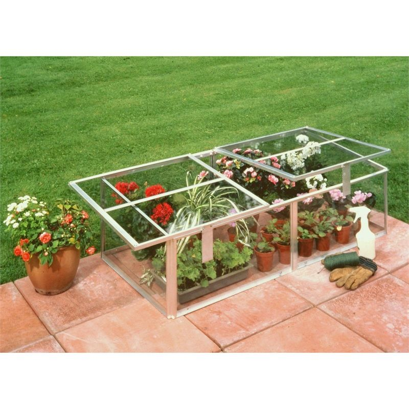 Find Eden Silver Cold Frame With Horticultural Glass 4x2ft At Homebase Visit Your Local Store For Th Cold Frame Greenhouse Organic Gardening Books