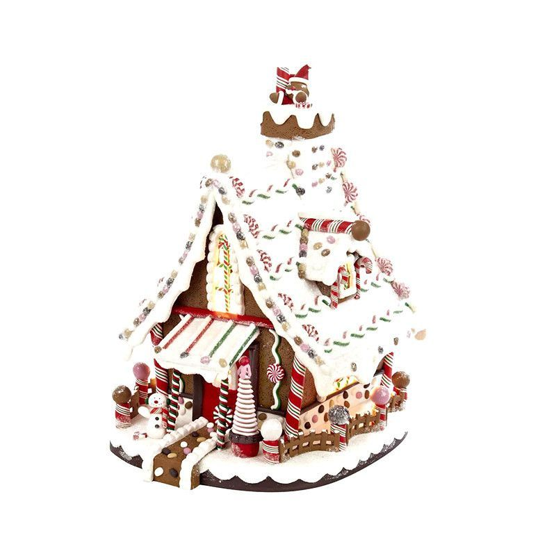 Kurt Adler 12-Inch Lighted Christmas Gingerbread House