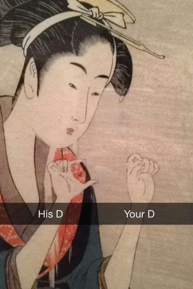 Art History Snapchats | Funny Snapchats from Museums