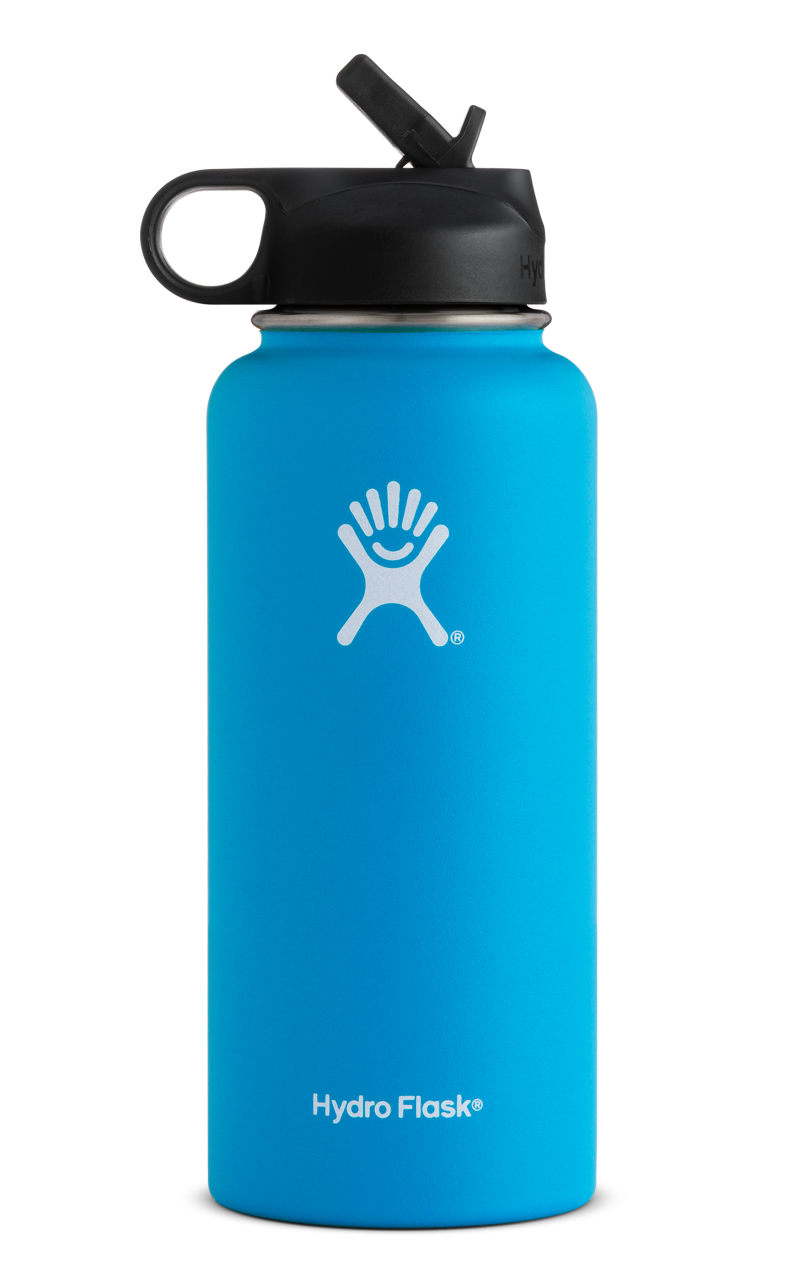 32 Oz Wide Mouth W Straw Lid Hydro Flask Water Bottle Hydro Flask Colors Wide Mouth Water Bottle