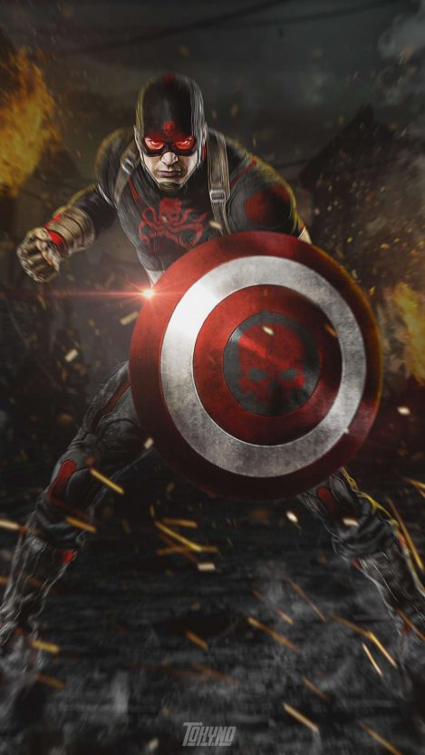 Captain America Hydra iPhone Wallpaper Free GetintoPik