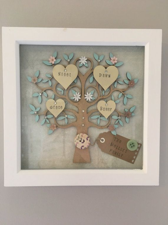 Family Tree Hanging Wall Art Family Tree Frame Home Decor Family