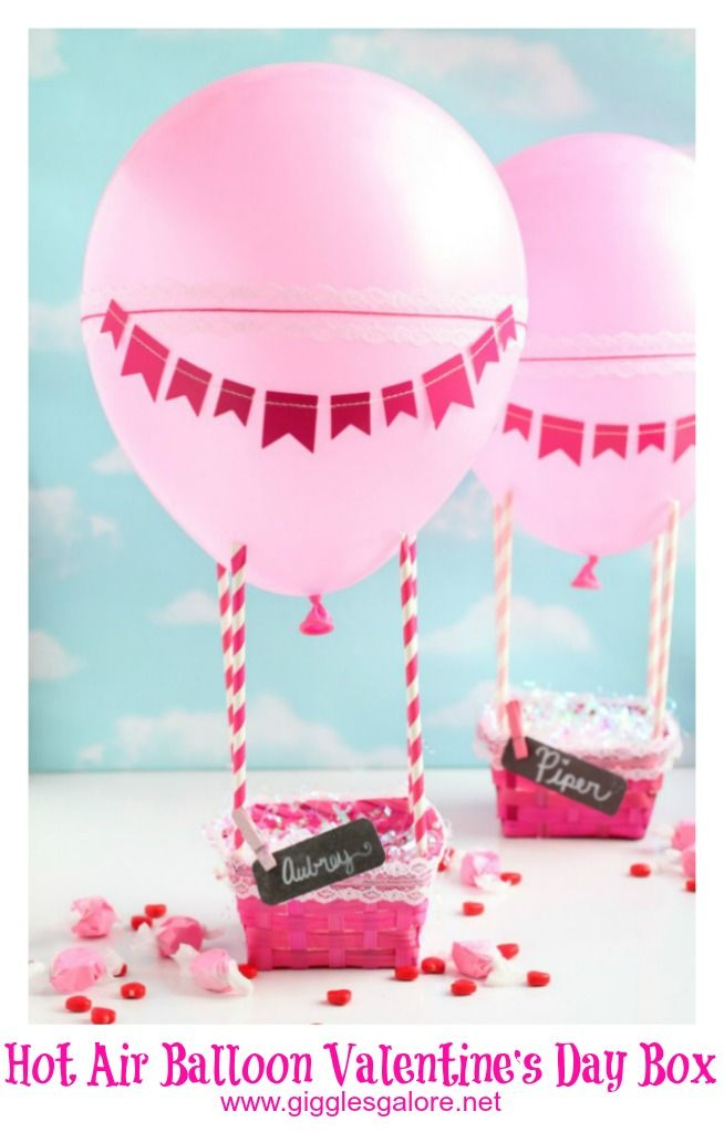 Hot Air Balloon Valentine Box Valentine Day Boxes Fun Valentine