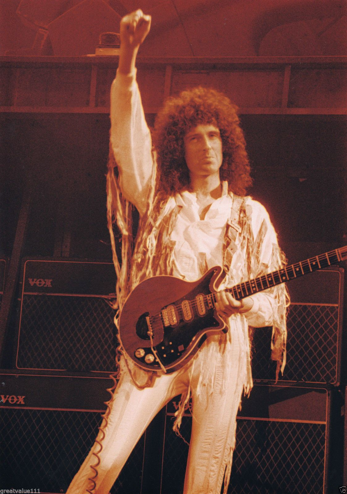 Brian May Queen Photo Unreleased Gem Live Aid 1985 Wembley Huge 12 Inch Tinted Brian May Queen Brian May Queen Photos