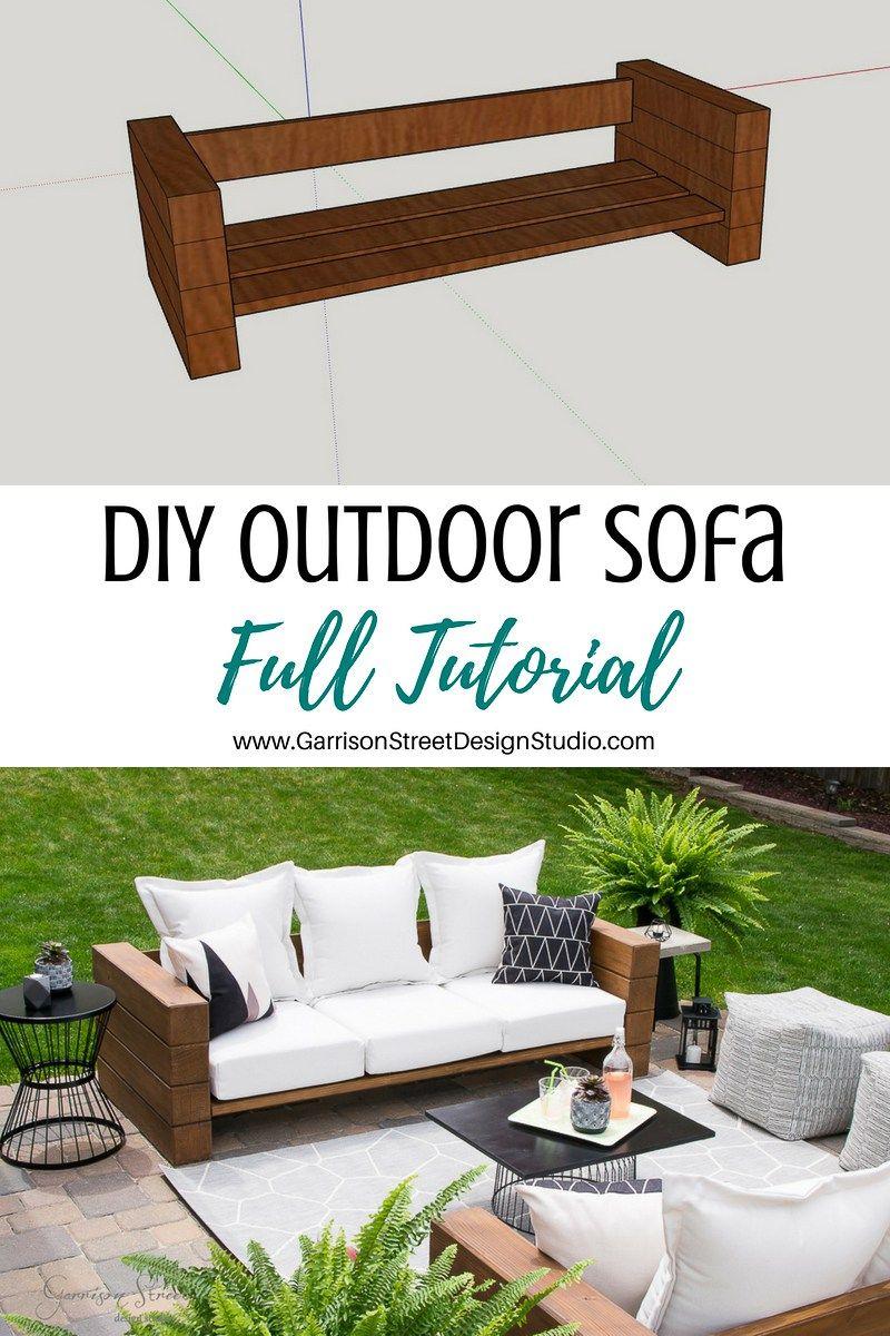 Diy Outdoor Sofa Full Tutorial Diy Pinterest Outdoor Sofa Diy