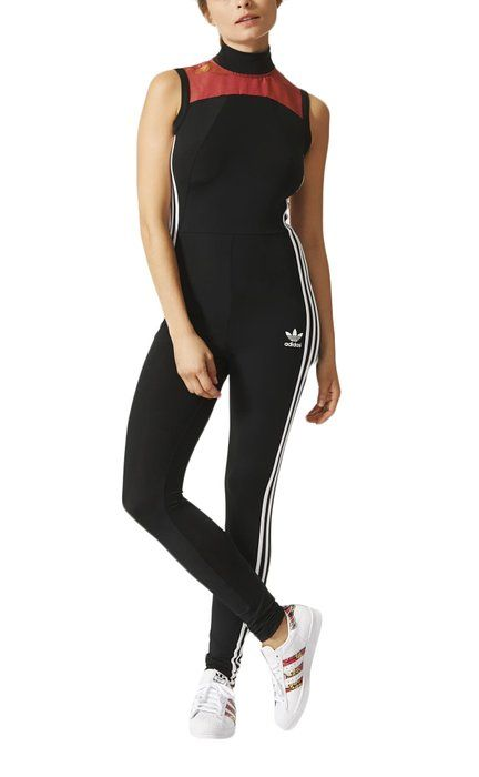 Adidas Originals Womens Space Shift All In One Piece Jumpsuit Black