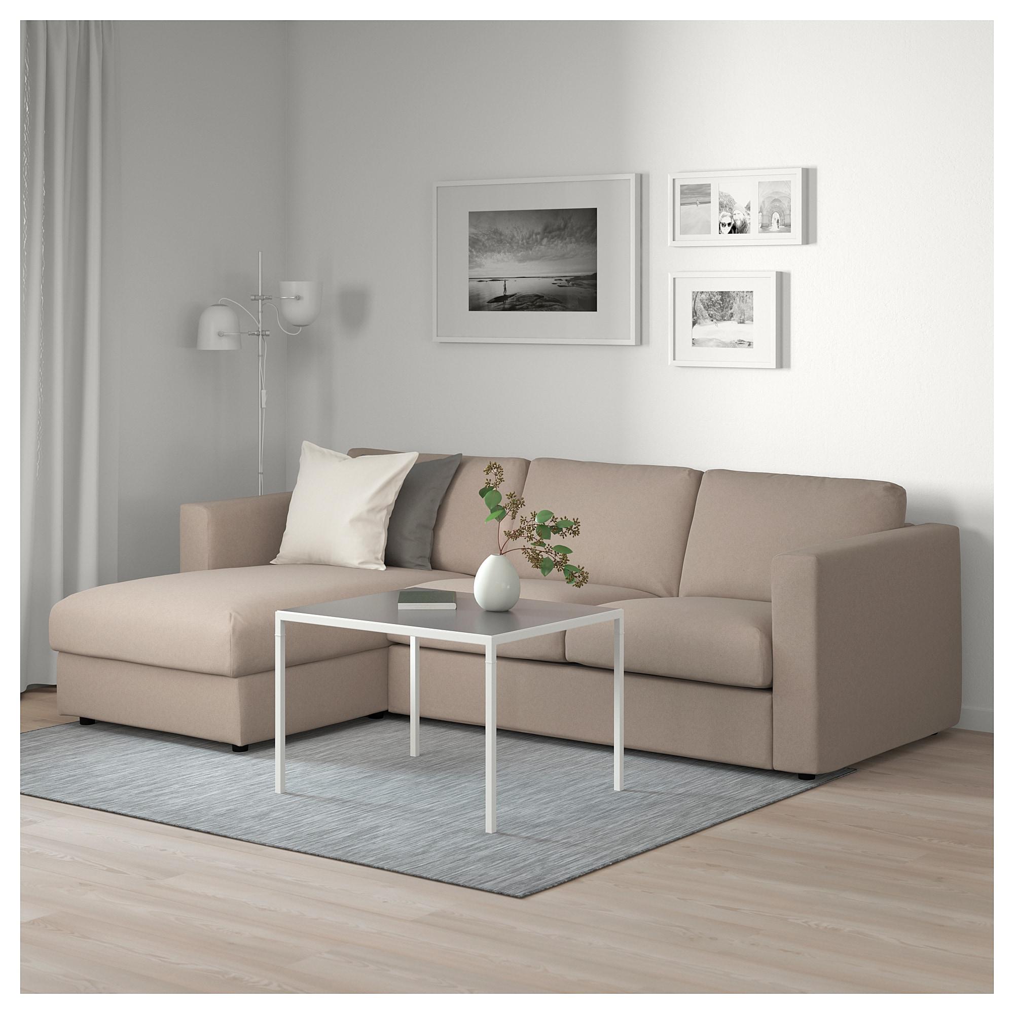 Vimle 3er Sofa Mit Recamiere Tallmyra Beige 3er Sofa Recamiere Und Chaiselongue