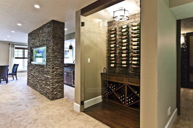 basement wine pantry idea