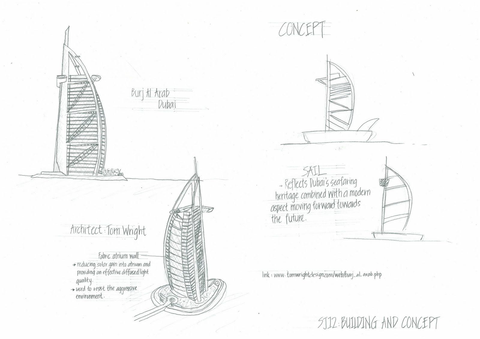 Burj Al Arab Sketches
