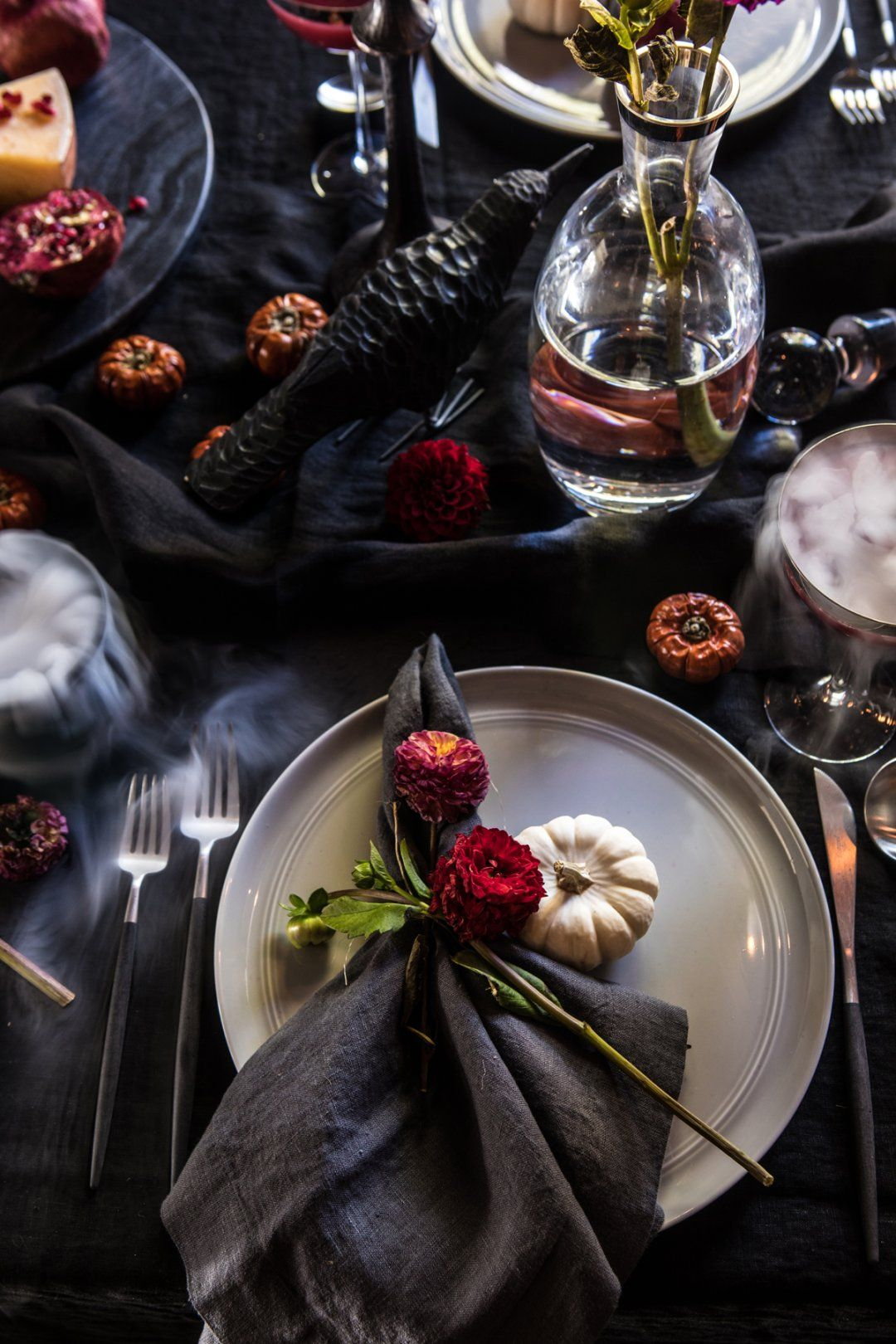 Black Cat Cake Recipe Table decorations, Industrial