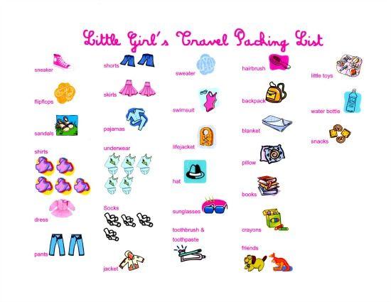 K A L A N I C U T Summer Travel Packing List For Little Girls