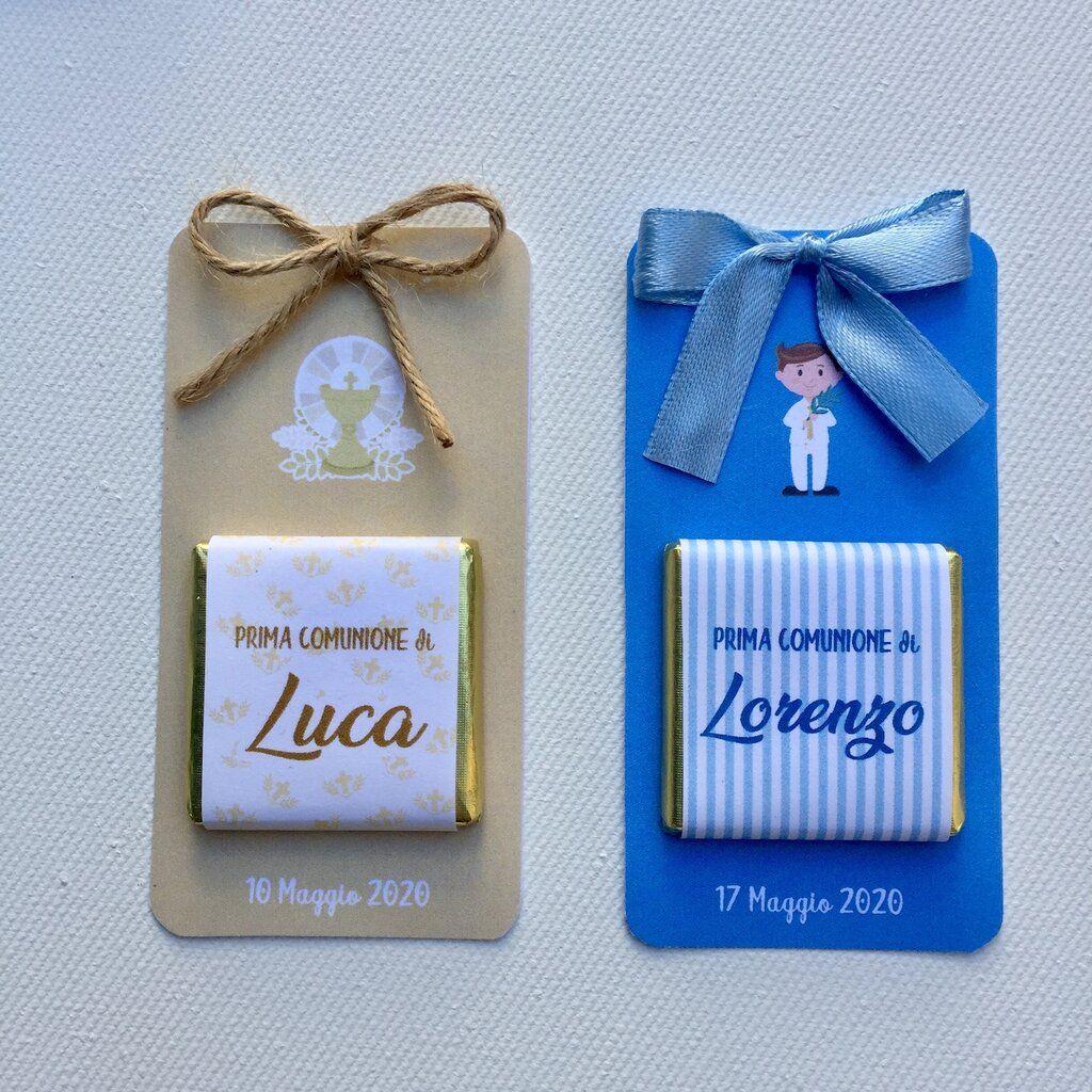 Cioccolatino Segnaposto O Ringraziamento Comunione Festa Per La Prima Comunione Regalini Per Festa Di Compleanno Comunione