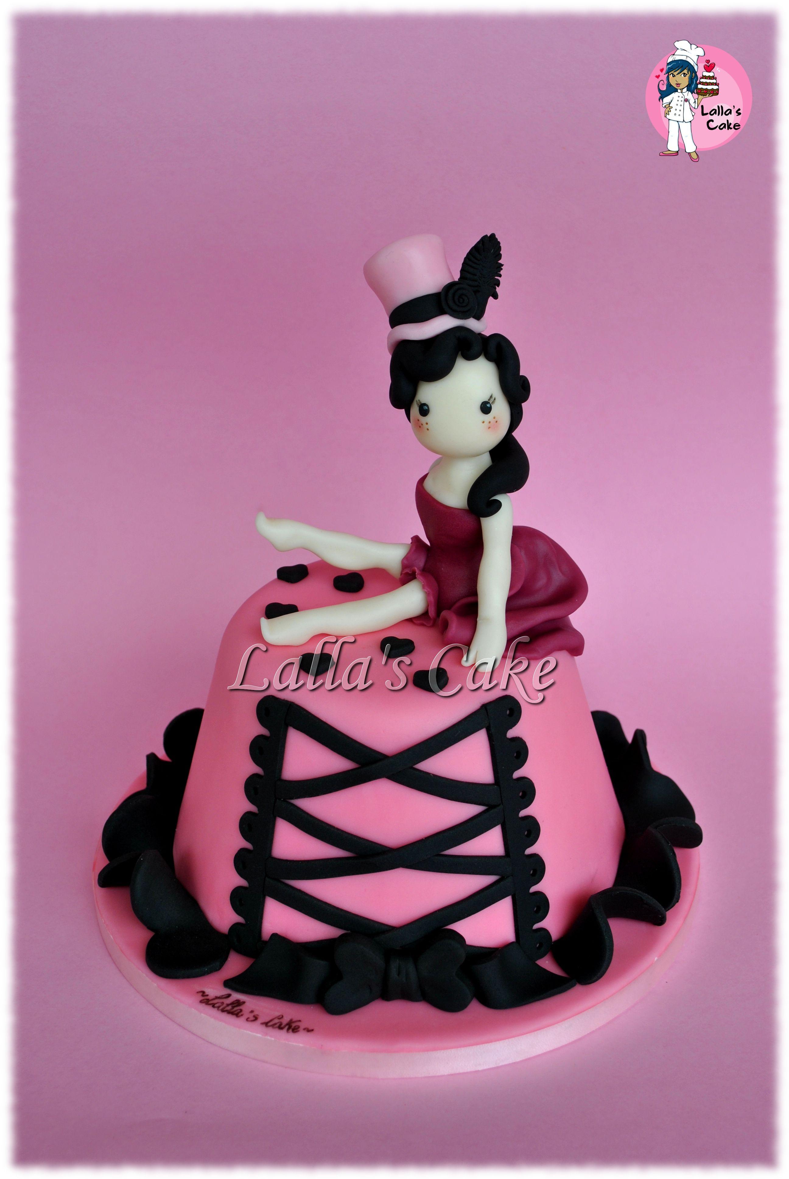 Burlesque Cake  cake design, pasta di zucchero, sugar paste, lalla's cake