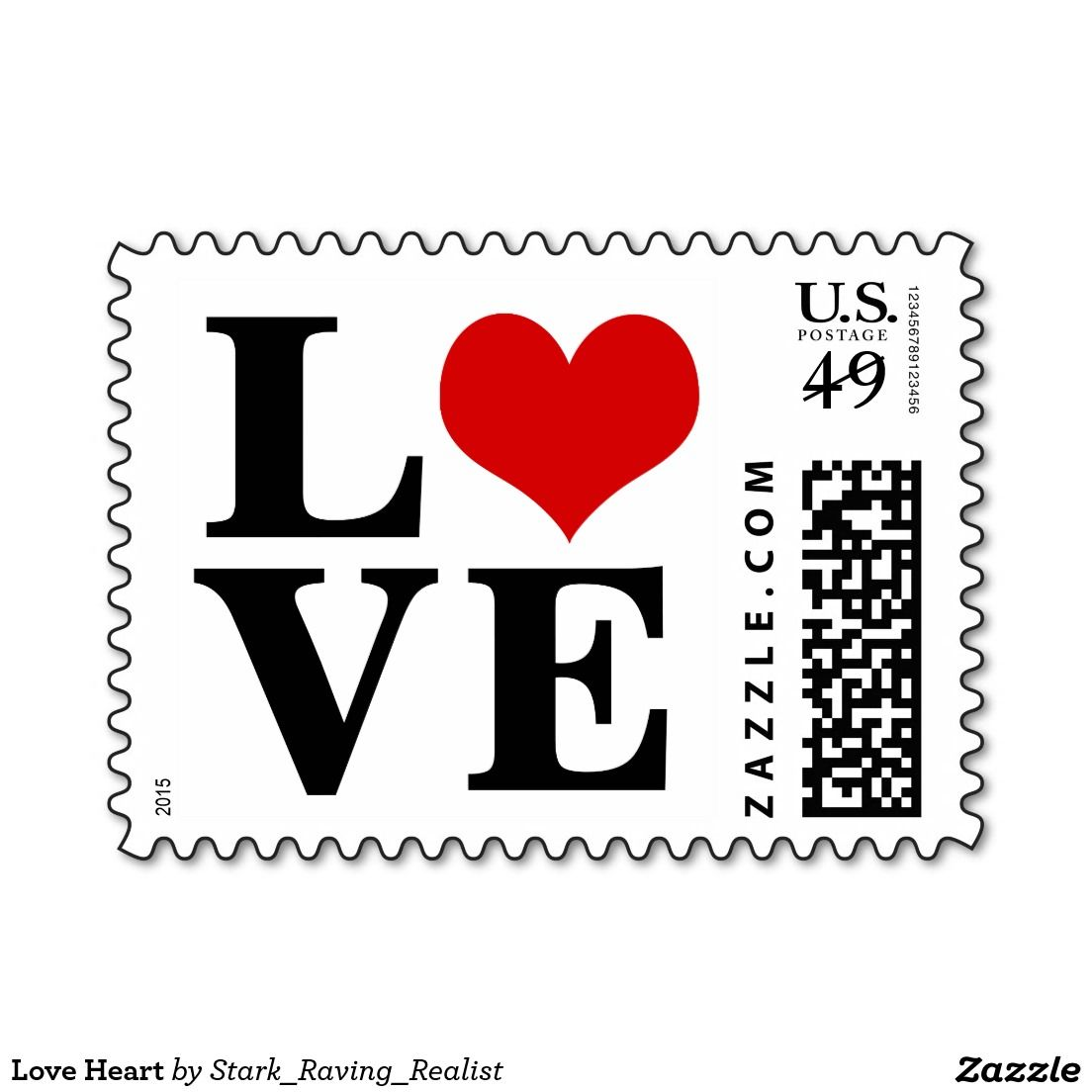 CUTE Love Heart Postage | Love Stamps - Custom Postage for Weddings ...