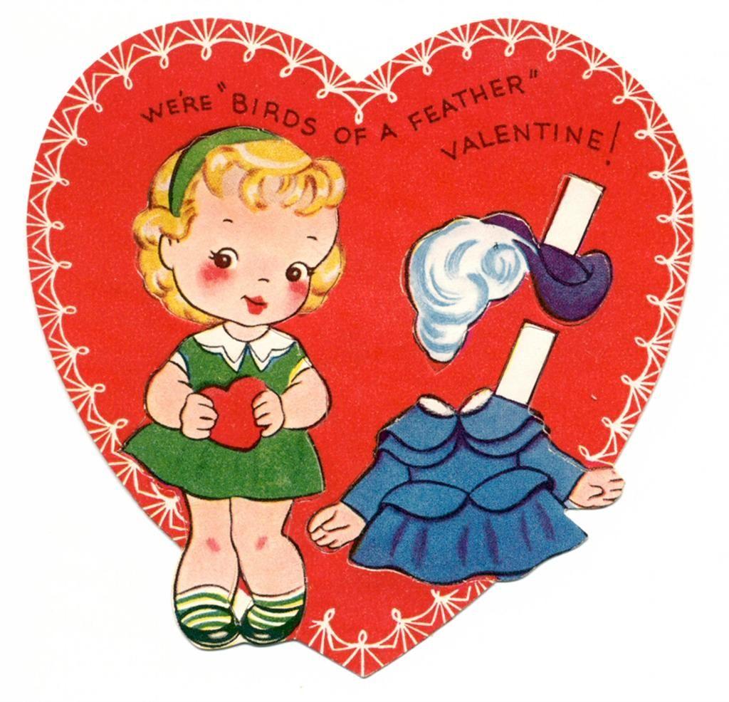 Valentine Paper Doll Card
