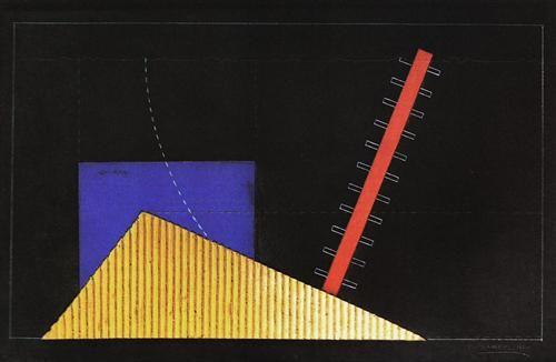 Il+mercante+di+cuori,+bozzetto+di+scena++-+Enrico Prampolini (1894-1956)