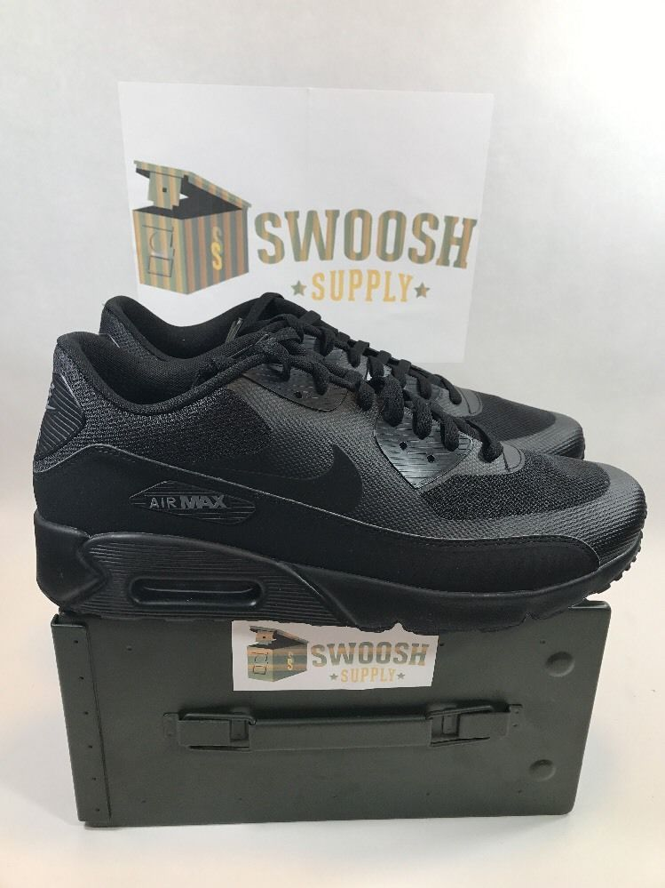 on sale 03383 4b76b NIKE AIR MAX 90 ULTRA 2.0 ESSENTIAL SHOES TRIPLE BLACK 875695-002 SIZE 11  New  NIKE  AthleticSneakers