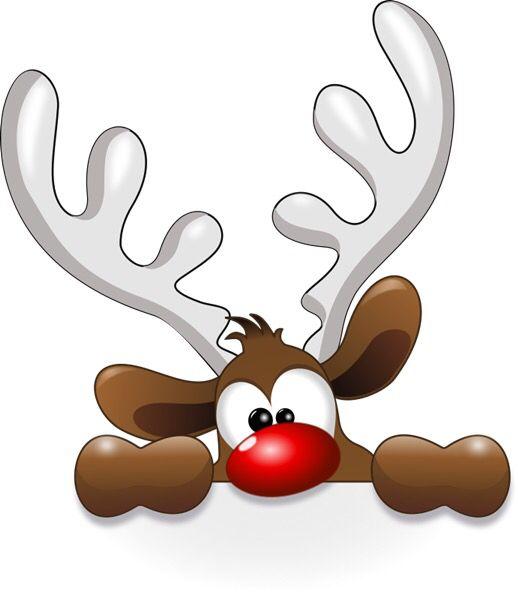 Rudolph Window Color Vorlagen Weihnachten