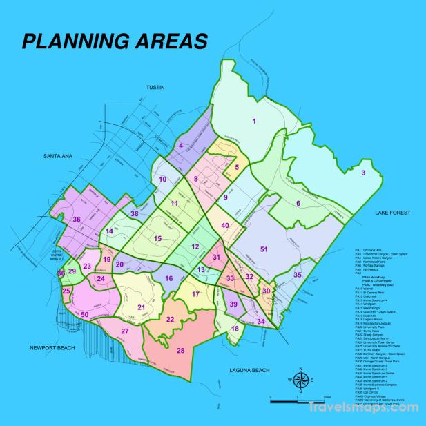 nice Map of Irvine California | Irvine, Amazing maps, Irvine ...