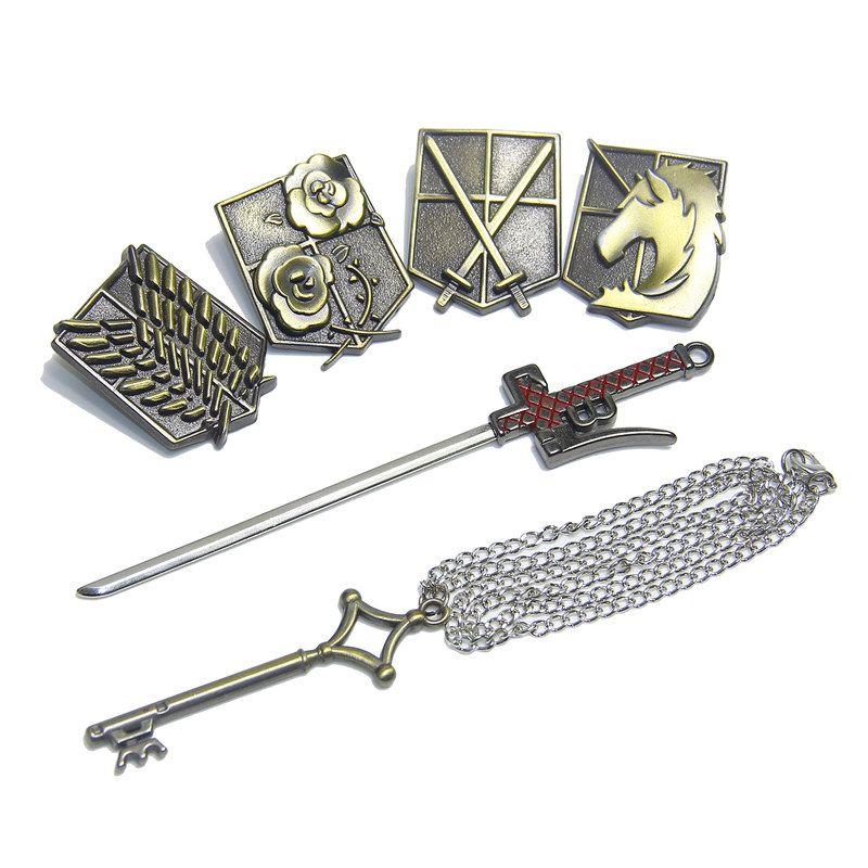 Attack On Titan Metal Training Scout Legion Keychain Allen //Price: $22 & FREE Shipping //