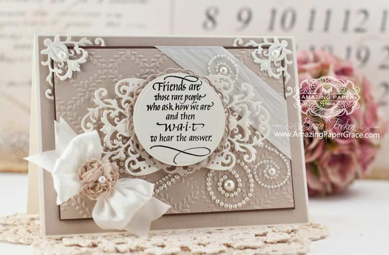 Friendship Card Making Ideas Part - 26: Friendship Card Making Ideas By Becca Feeken Using Quietfire Design Friends  Are Those Rare People And