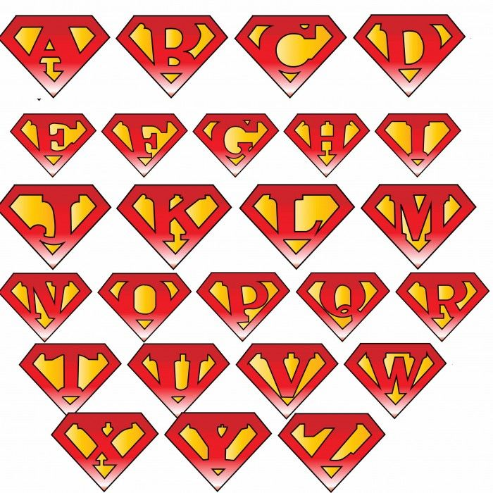 superman logo with different letters superman and wonder