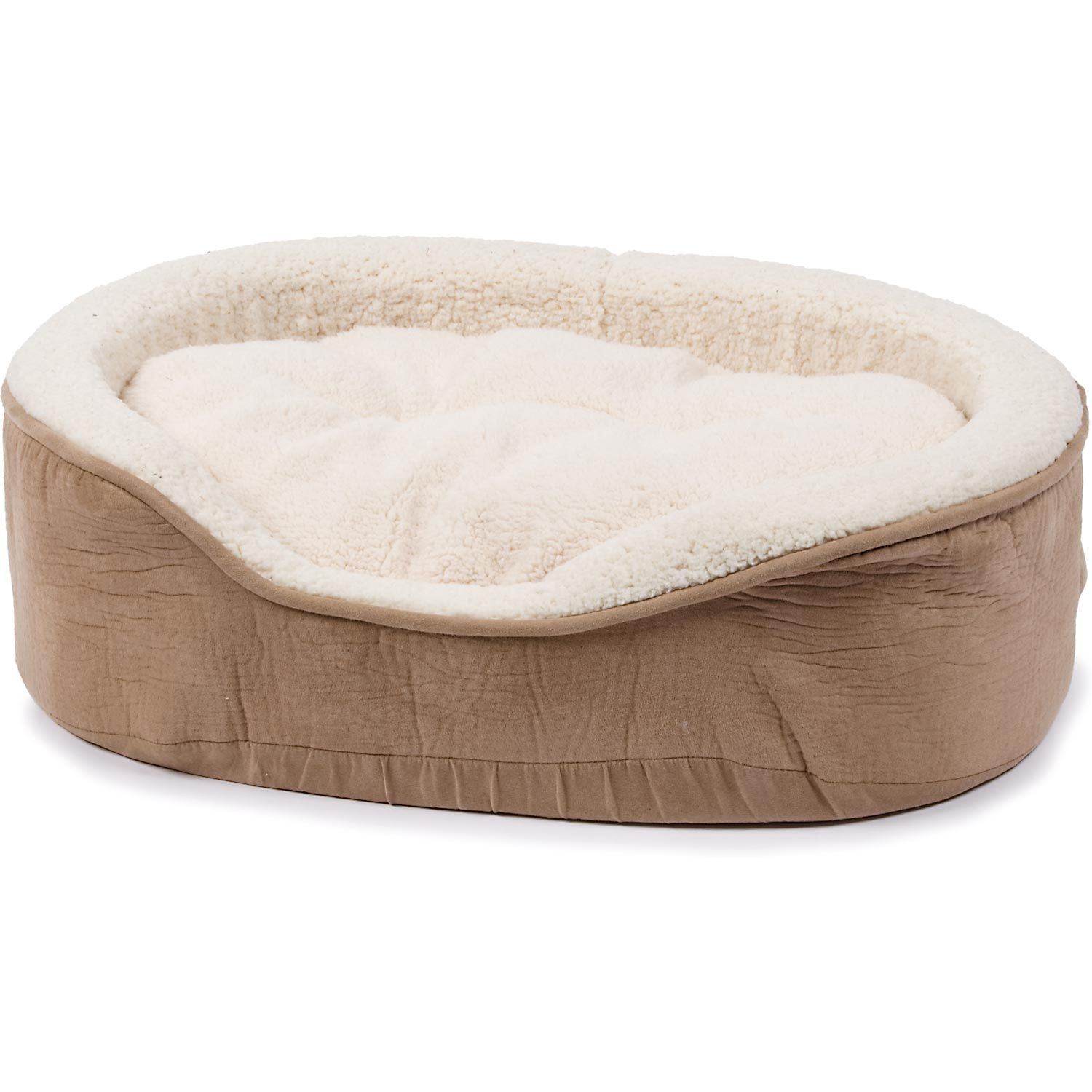 Petco Oval Tan and Cream Lounger Dog Bed Perfect for a