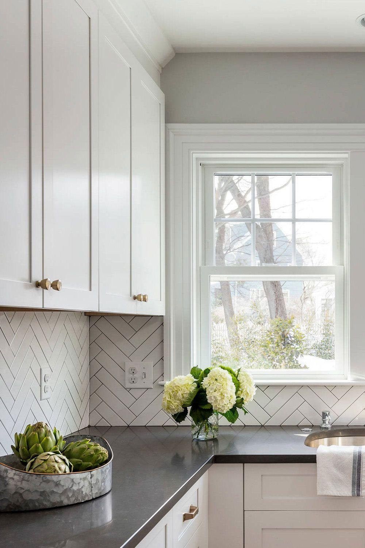 50 white herringbone backsplash tile