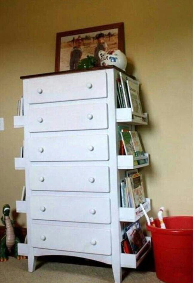 Dresser With Bookcase Combo Kids Room